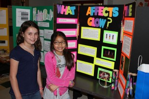These science fair researchers applied the scientific method to study glowsticks. How about you?  Do you know what science actually is? Test your knowledge! Photo from Ref. 1.